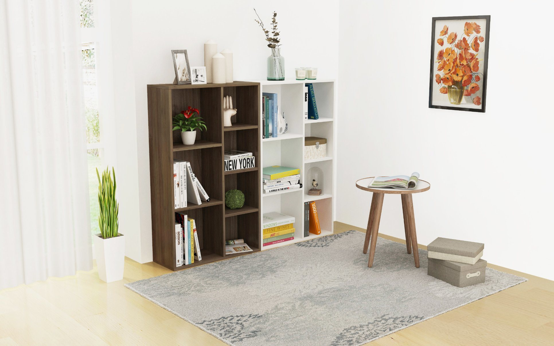 China Bookcase Wooden For Sale Modern Bookshelf Furniture