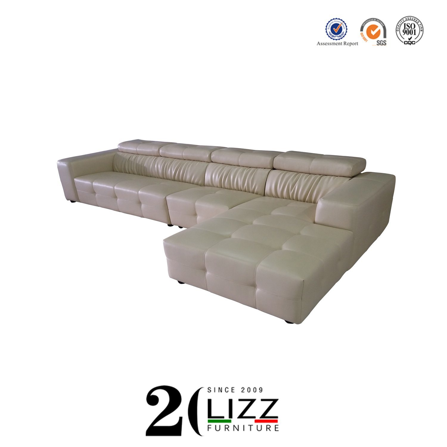 - China Factory New Arrival Home Furniture Italian Leather Sectional