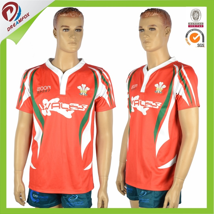 Customized 100% Polyester Sublimated Rugby Uniform pictures & photos