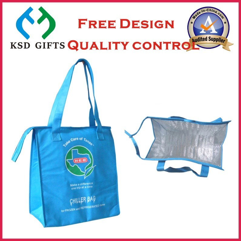 9e47c09fd7 China Custom Reusable Non-Woven Insulated Shopping Tote Cooler Bag ...
