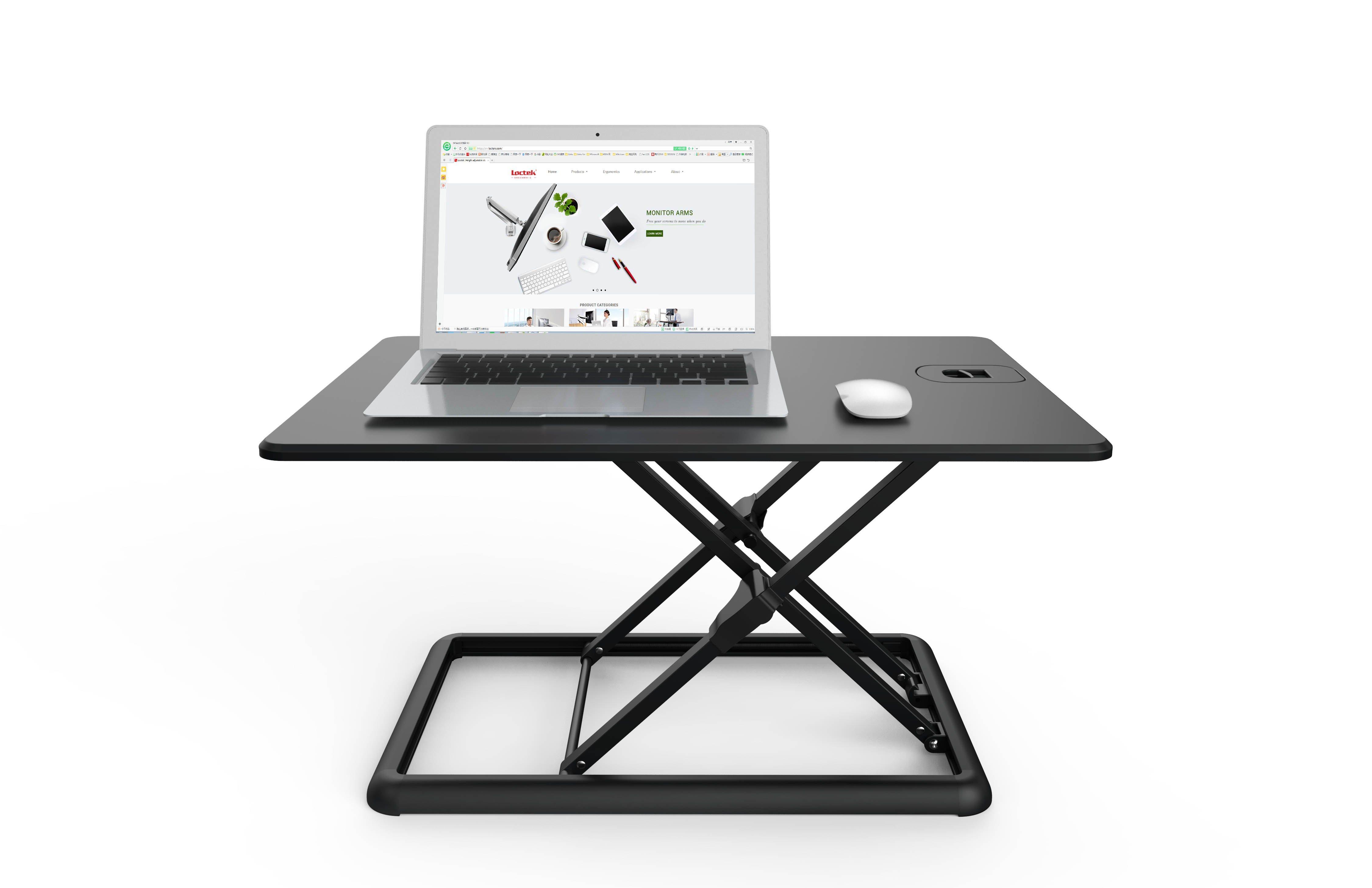 China Loctek Mt201 Portable Ergonomic Height Adjule Sit Stand Computer Table Converter Workstation Desktop Riser