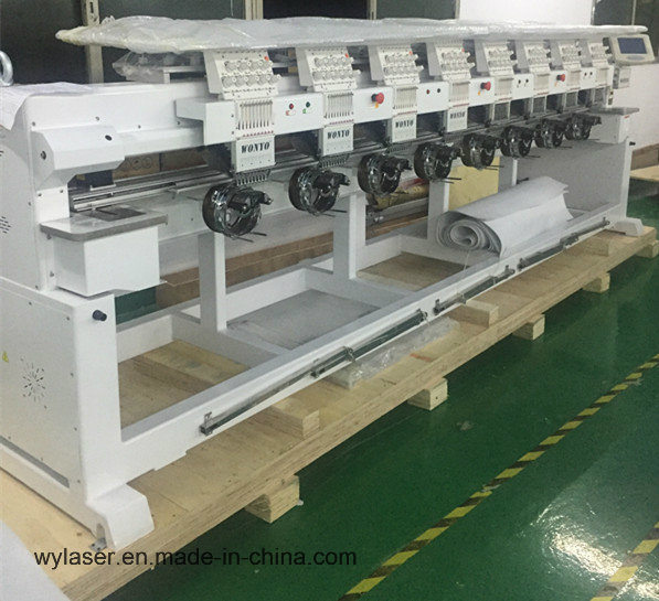 Hot Item 2019 New Commercial 8 Head Tubular Embroidery Machine For Embroidery Design Ladies Suits