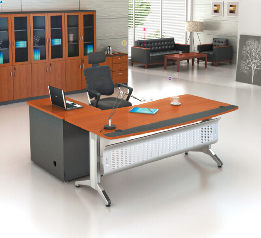 China Office Desk Design L Shaped Executive Stainless Steel Table