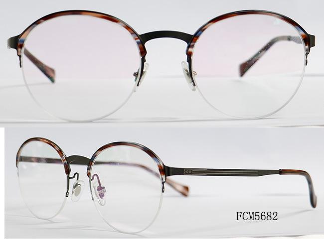 38e6af7a498 China Round Shape Metal with Acetate Eyebrow New Designer Eyewear ...