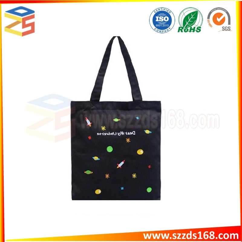 Wholesale Travel Custom Printed Promotional Women Reusable Handbags Cotton  Canvas Pouch Shopping a0d1f3b69d