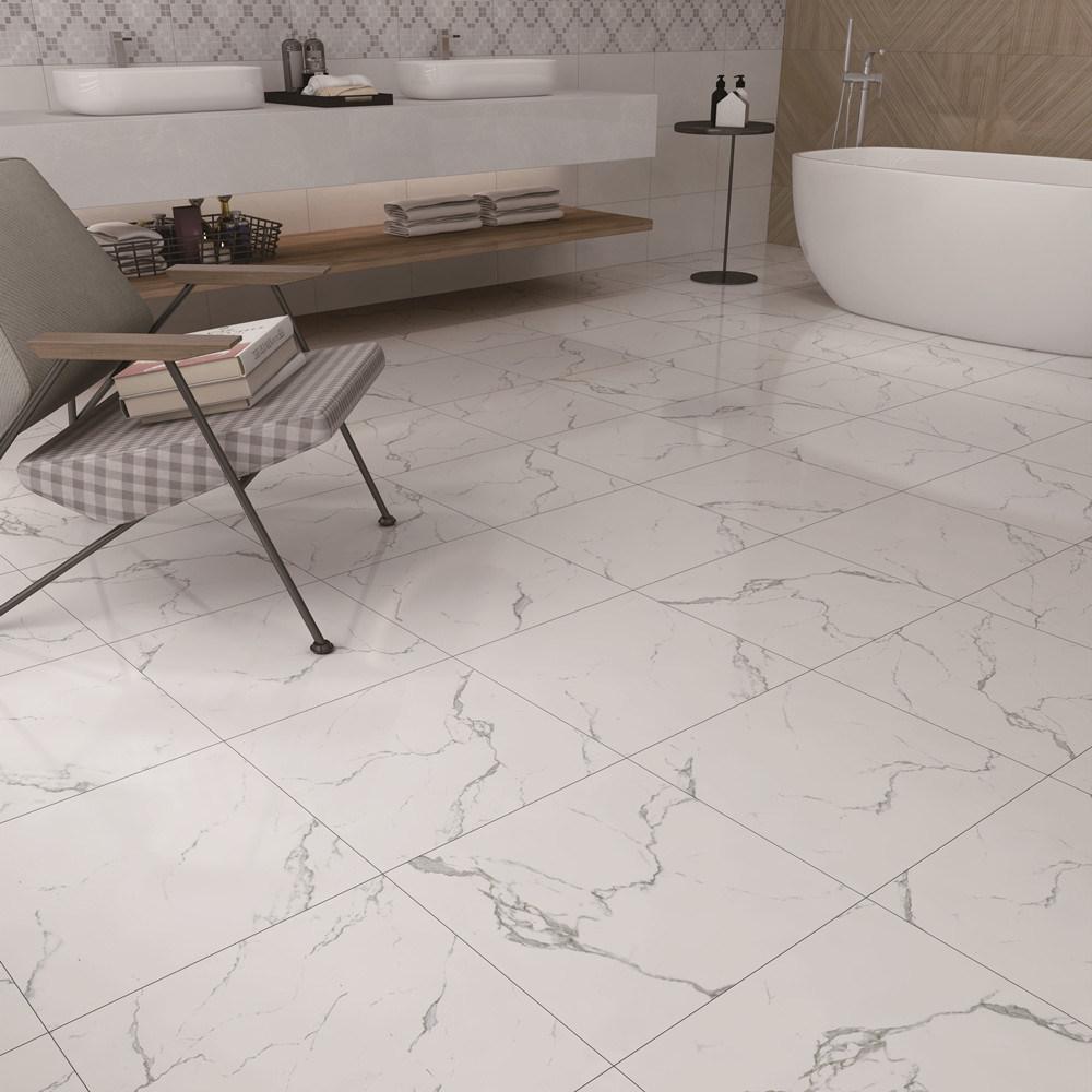 China Factory Marble Spc Plank, Bathroom Vinyl Tile