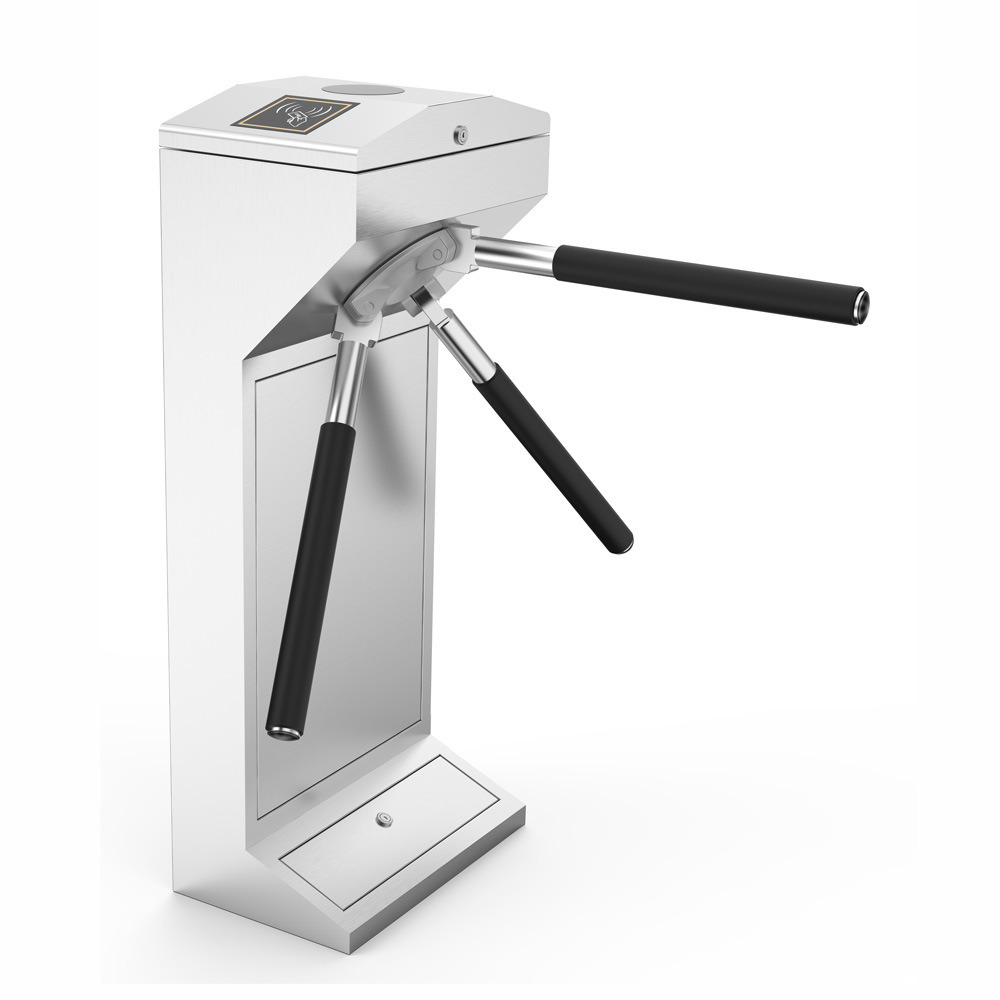 Bidirectional Tripod Turnstile Optional RFID Reader, Facial Machine Access Control Solution