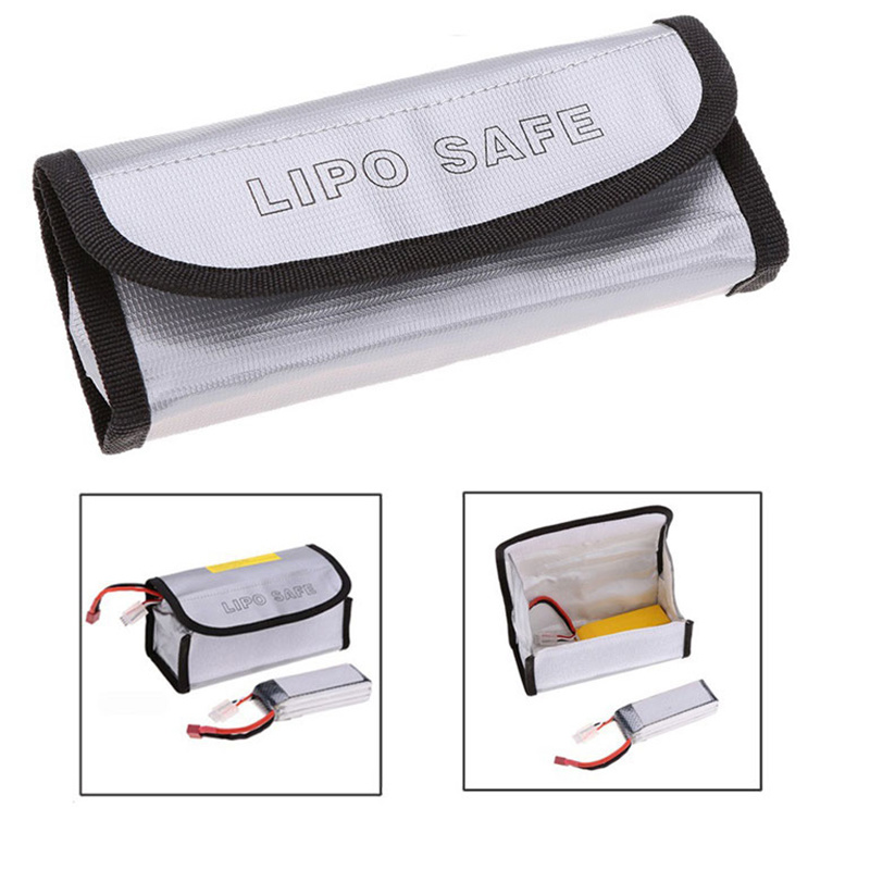 LiPo Battery Fireproof Explosion proof Guard Charging Safe Bag 185x75x60mm