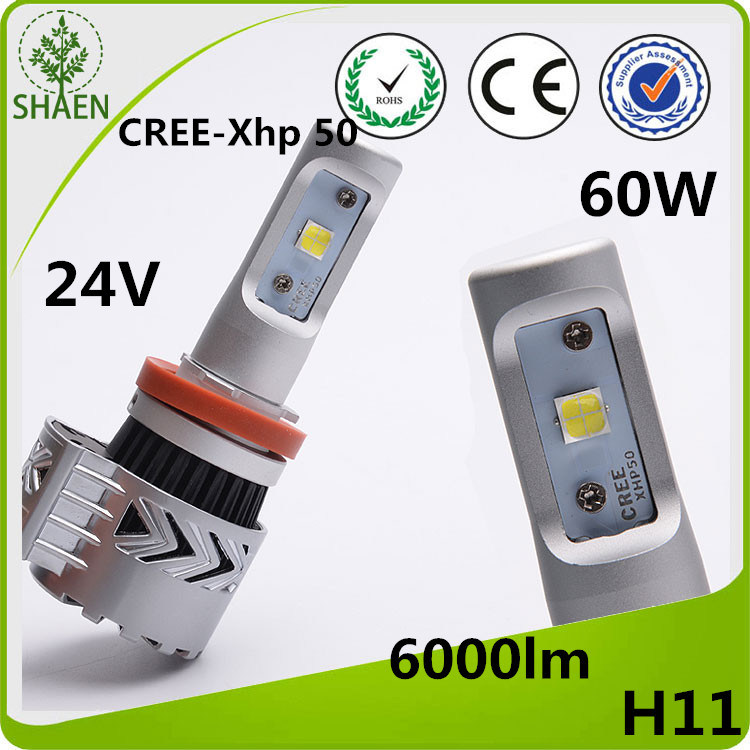H11 CREE LED Car Light Super Brightt 60W 6000lm