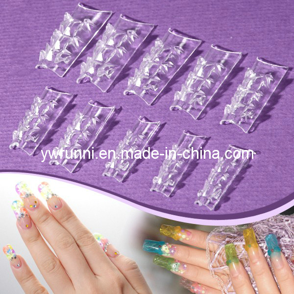 Clear Glass Glazes Nail Tips Extensions Designer Made In China