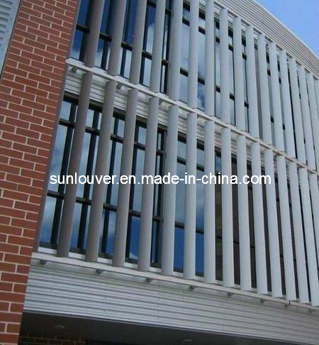China Airfoil Aluminum Architectural Louver For Facade