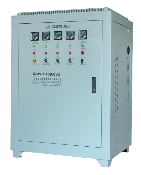 SBW-F Series Three-Phase Split-Phase Regulating Full-Automatic Compensated Voltage Stabilizer 100k