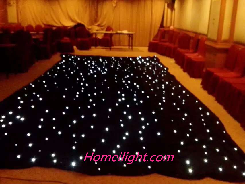 China Led Star Curtain Led Star Cloth For Weddingstage Decorate