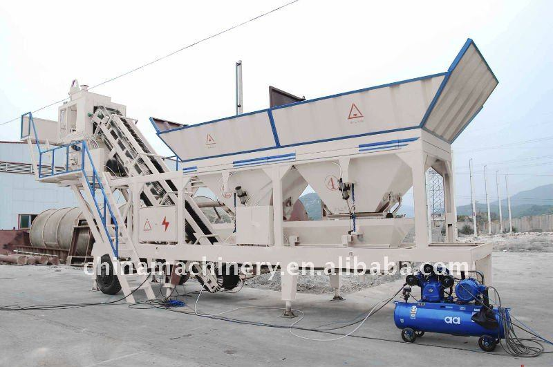 Mobile (YHZS-40) Concrete Mixing Plant 40cbm/H pictures & photos
