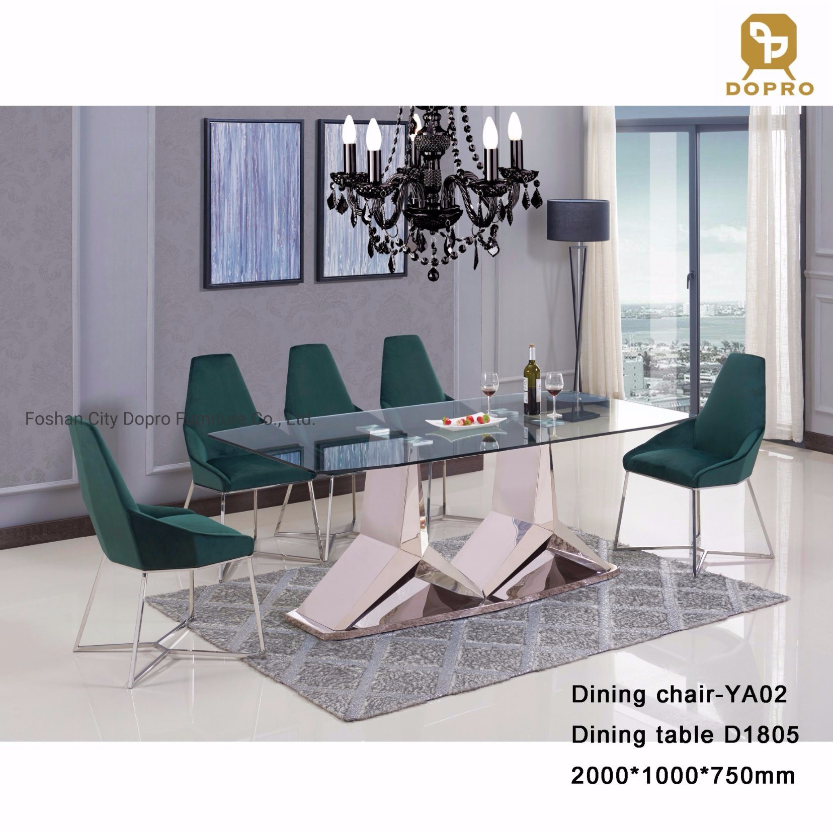 Picture of: China 2020 New Design Modern Clear Glass Top Dining Table Set For Home Furniture China Hotel Furniture Luxury Furniture