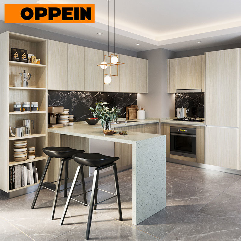Hot Item Oppein Apartment Project Full Kitchen Built In Cupboards Zambia Cabinets