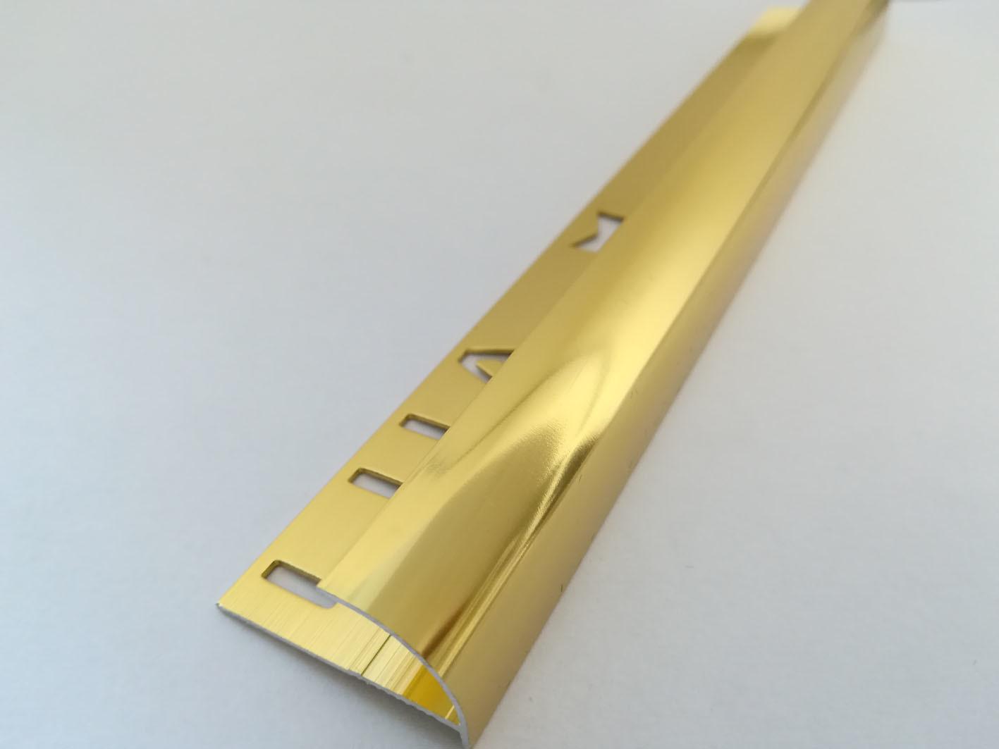 China Glossy Gold Aluminium Quarter Round Shape Tile Trim - China ...