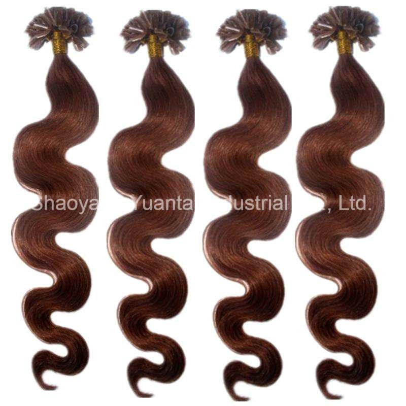 China U Tip Pre Bonded Keratin Glue Remy Real Human Hair Extensions