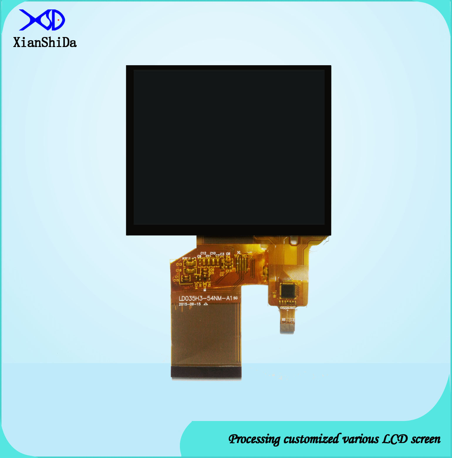 3.5 Inch Customized Capacitive Touch Panel for Medical Product Application