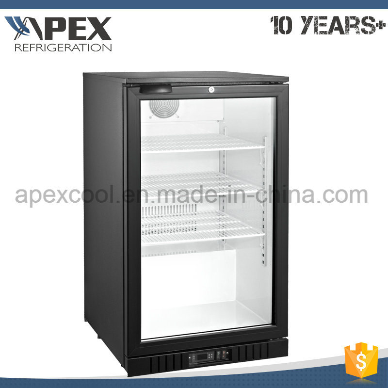 China 100l Glass Door Mini Bar Fridge For Hotel China Upright