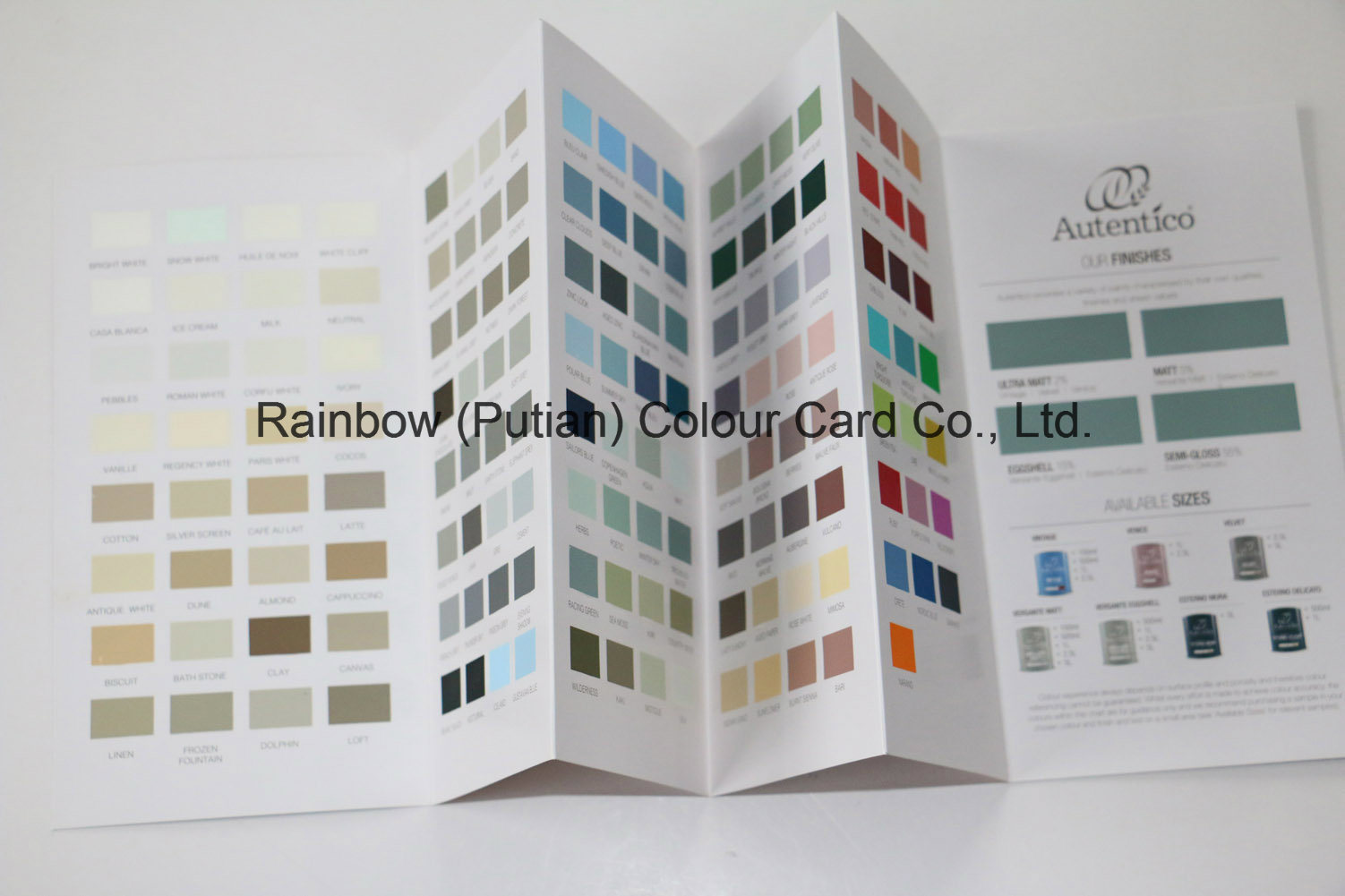 Wall Paint System Pantone Color Chart