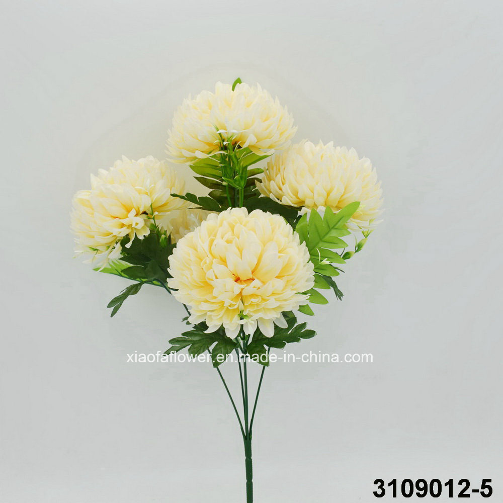 China Artificialplasticsilk Flower Mum Bush 3109012 5 China