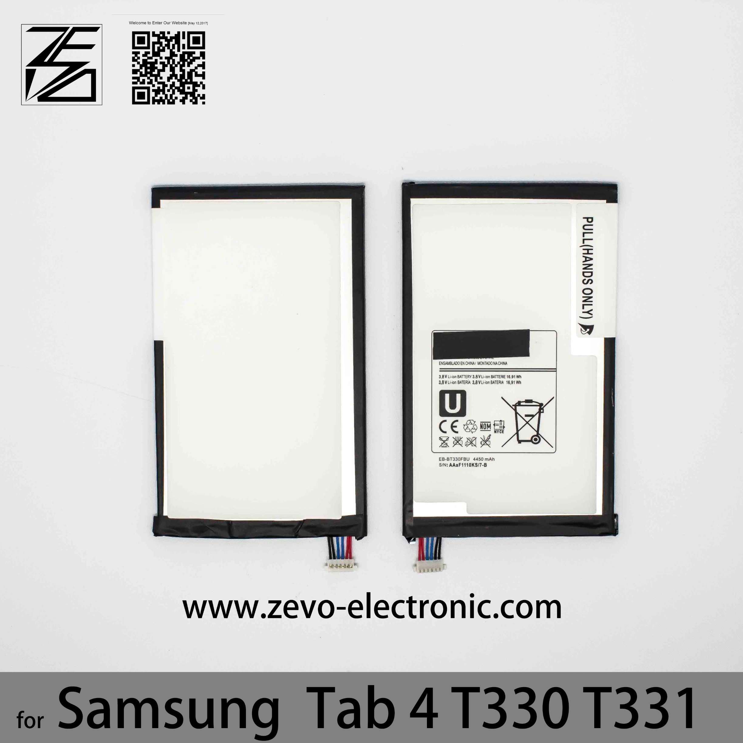 China Original Replacement Battery 4450mah Eb Bt330fbe For Samsung Galaxy Note 2 3600mah Tab 4 T330 T331 Manufacturer