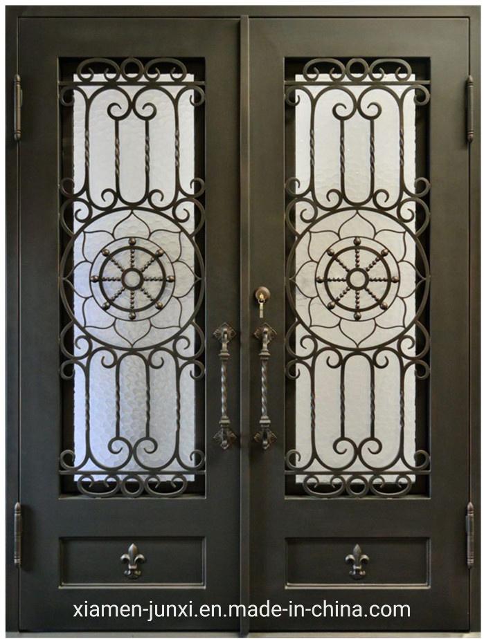 China Fancy Design Security Front Iron Doors For Security At Home Depot China Raw Iron Doors Thermally Broken Door