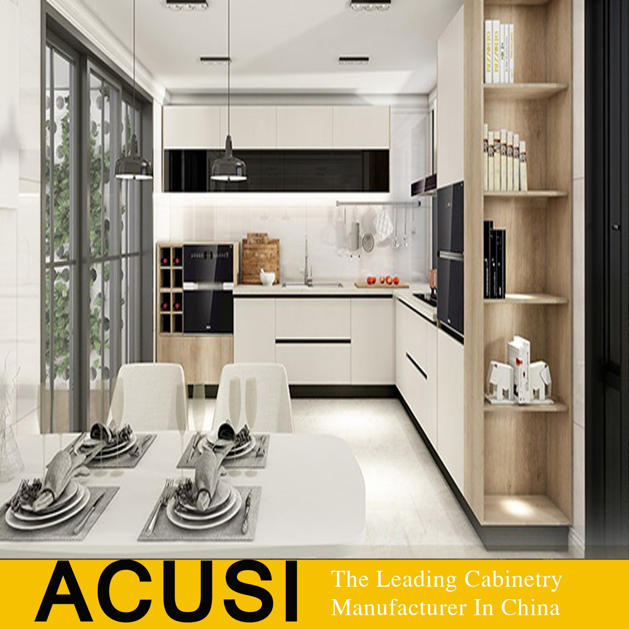 China Hot Sale Wood Melamine Board Lacquer Door Kitchen Cabinet
