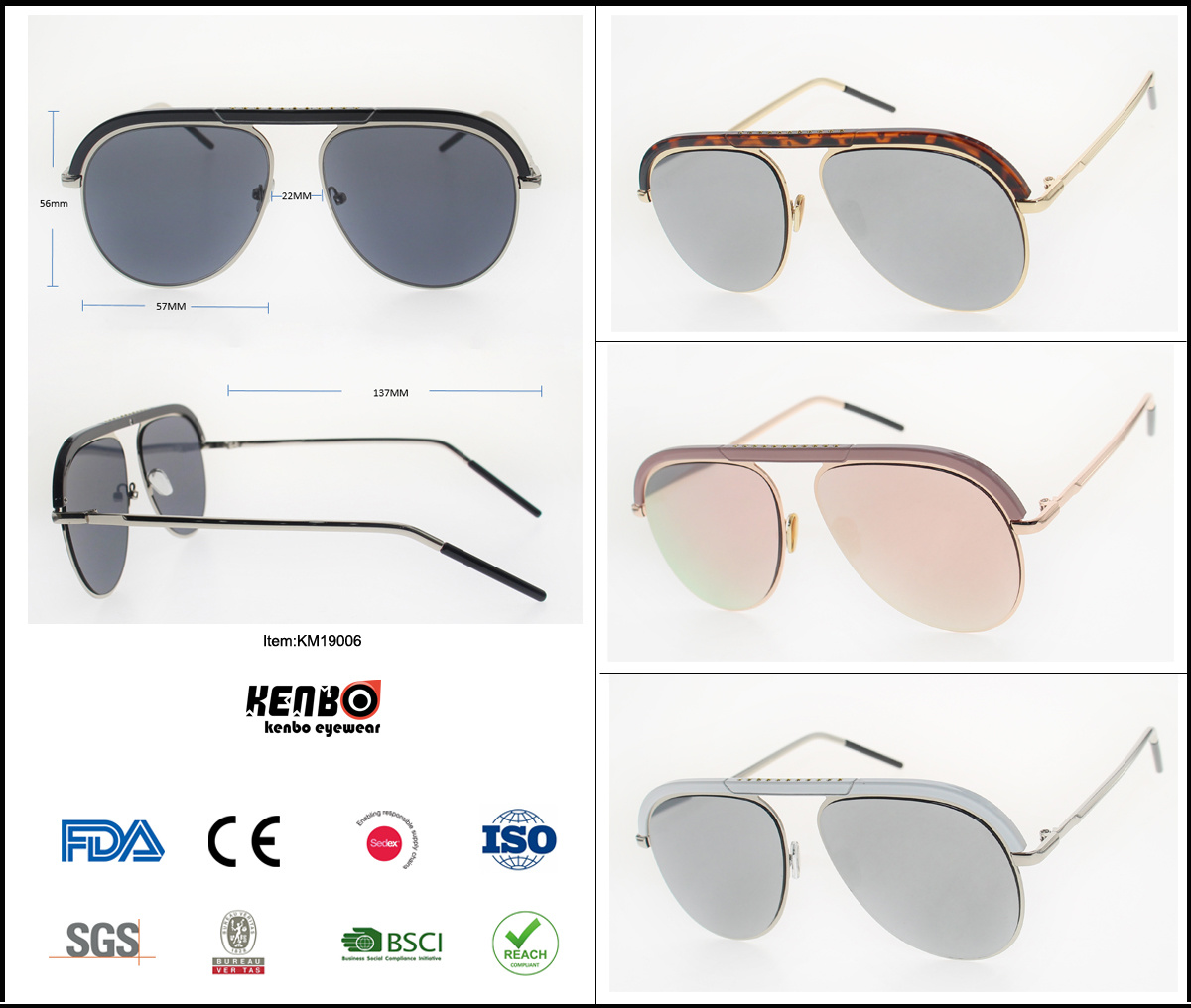 2019 New Combination Fashion Best Selling Retro Sunglasses pictures & photos