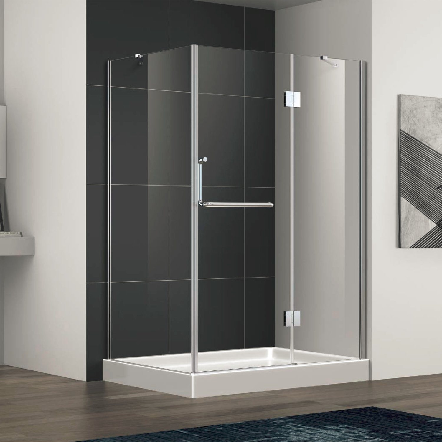 Hot Item Semi Frameless Shower Enclosure Room With Stainless Steel 304 Handle