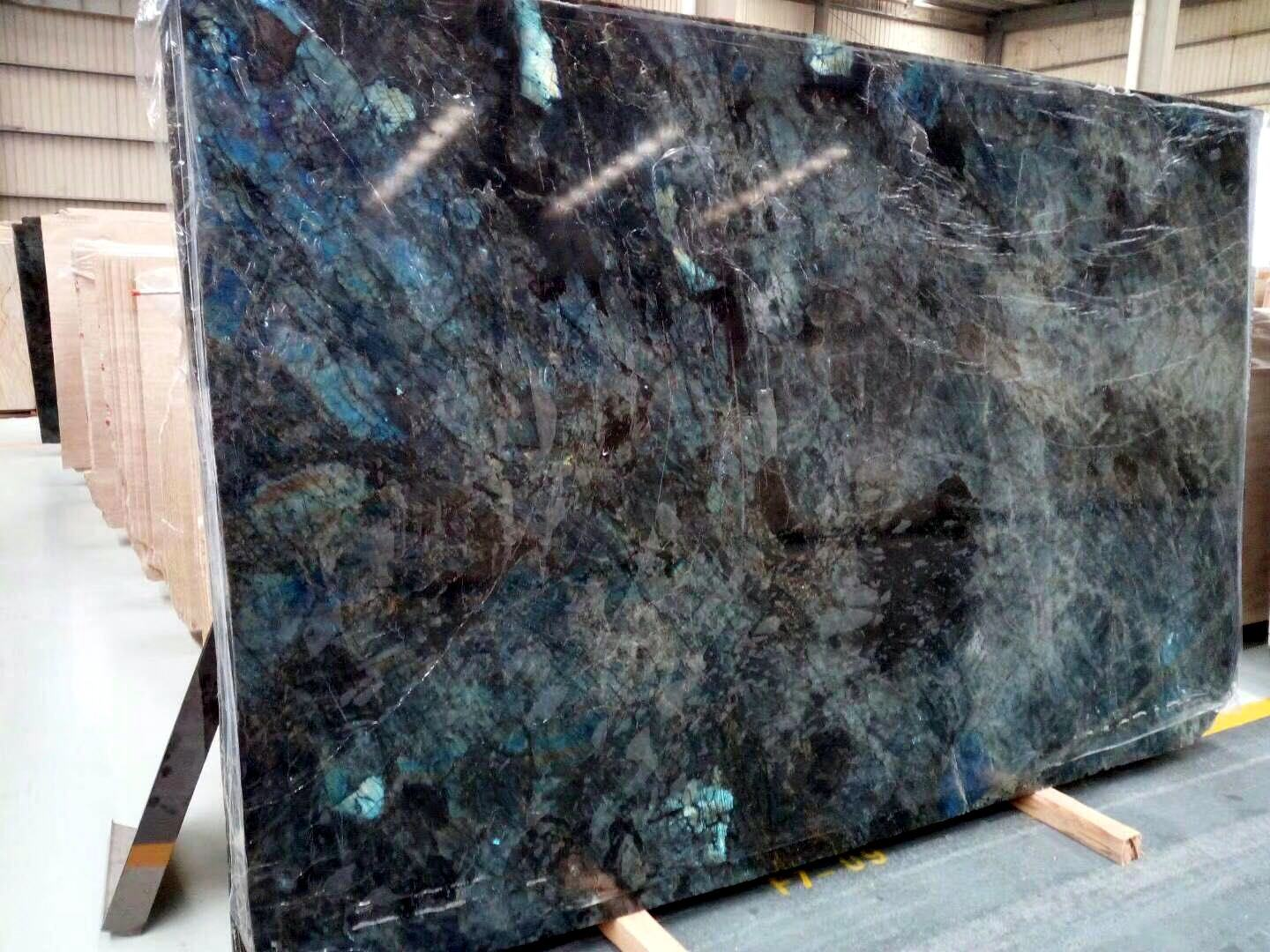 China Wholesale Natura Stonel Jade Labradorite Lemurian Blue Granite China Blue Granite Blue Quartz