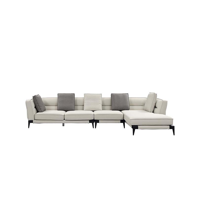 Peachy Hot Item French Contemporary L Shape Sectional White Elegant Fabric Tufted Sofa Set Home Interior And Landscaping Analalmasignezvosmurscom