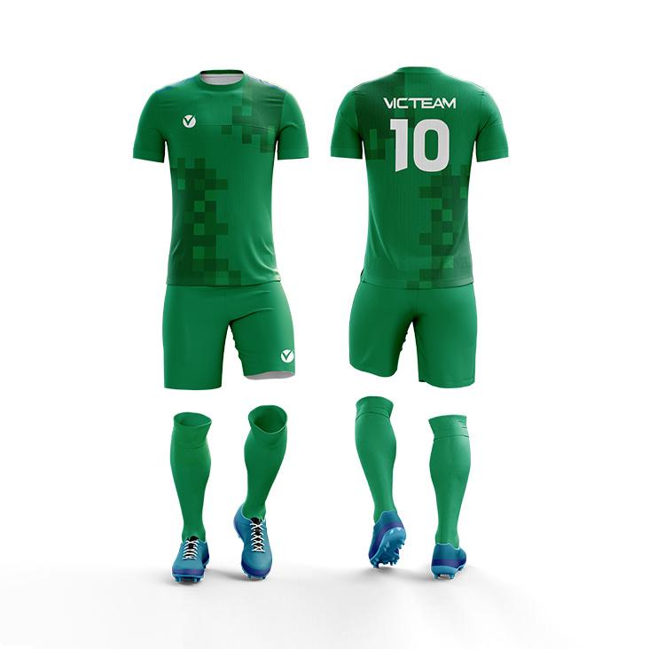 China Full Green Football Wear Uniform Sets for Team - China ...