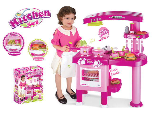 [Hot Item] Pretend Play Toy Kids Kitchen Play Set Cooking Toy (H0535135)