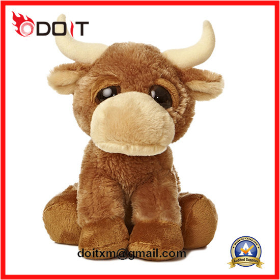 [Hot Item] Custom Made Sitting Plush Toy Cow Buffalo Stuffed Toy