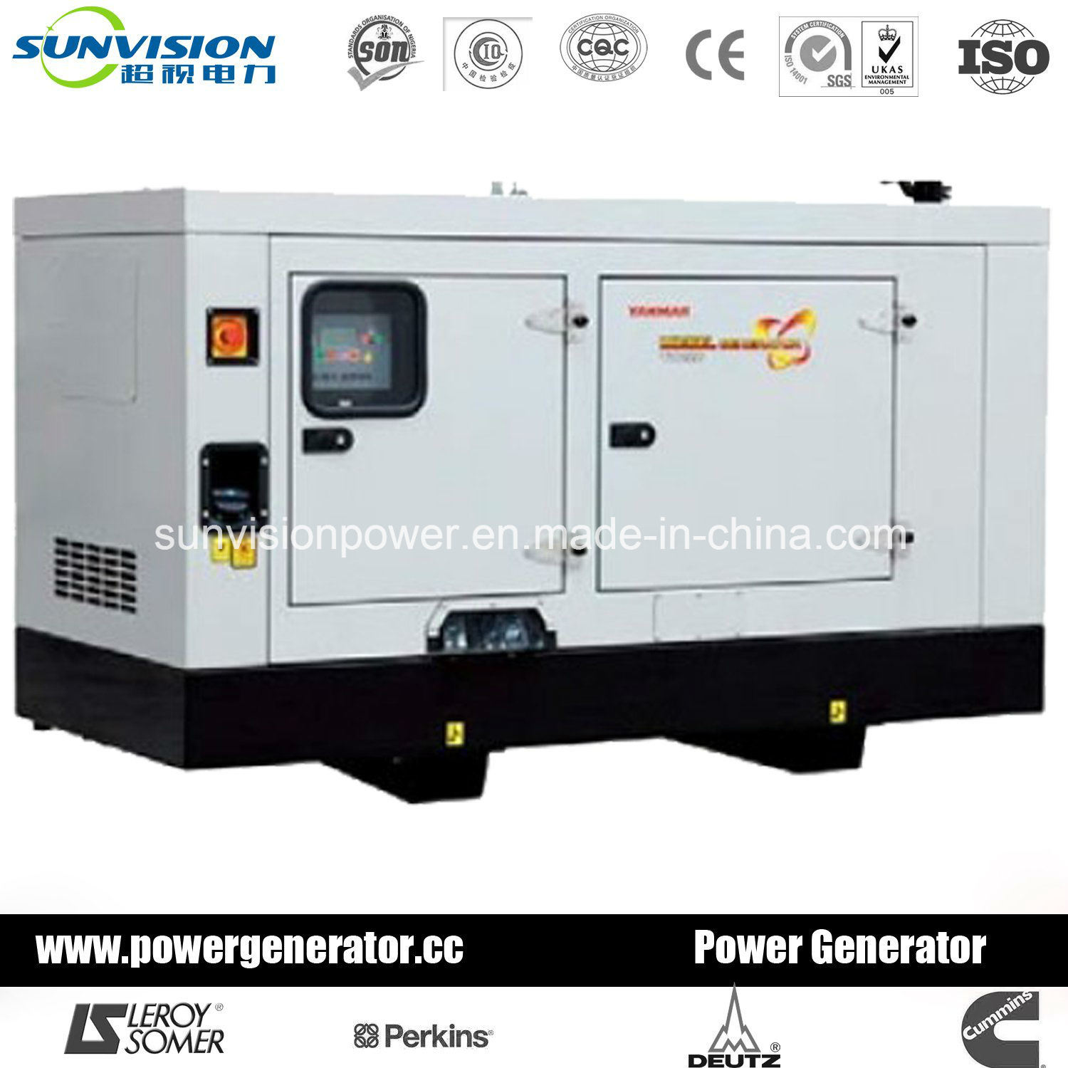 Super Silent Yanmar Diesel Generator Set From 7kVA to 70kVA