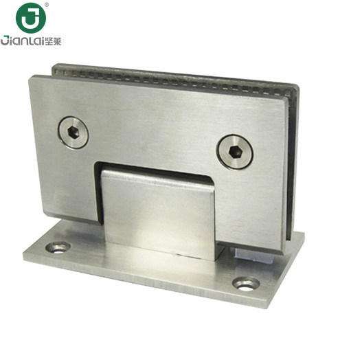 China Frameless Shower Door Hardware Square Glass To Wall Shower