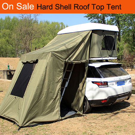 China Overland Trailer Green Beige Khaki Car Roof Top Tent