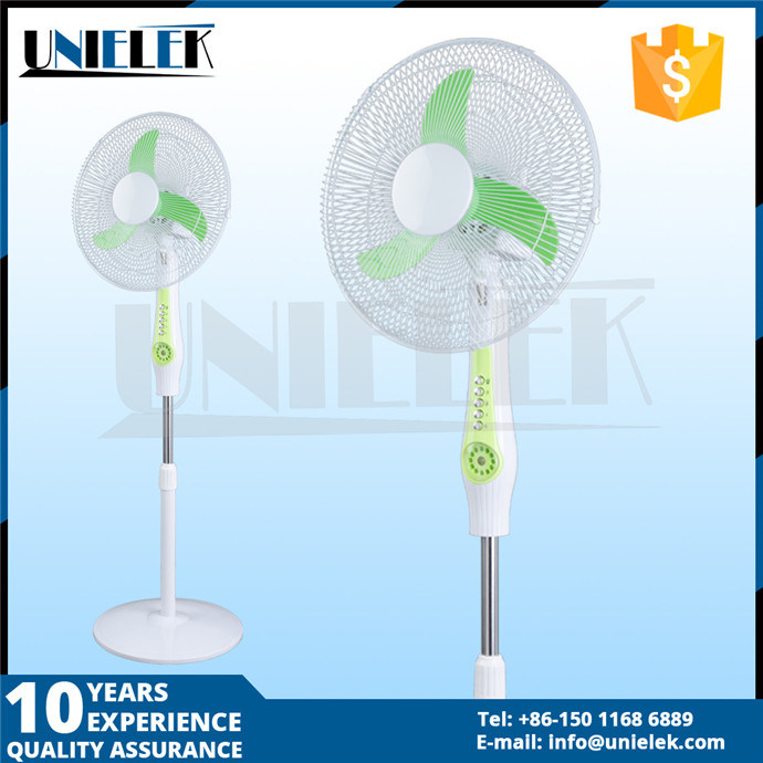 China Design 16 Or 18 Solar Stand Fan 12v Rechargeable Standing Charged With Light Electric Battery