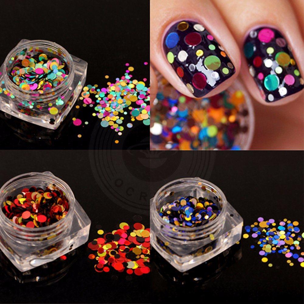 China Black Diamond Glitter Powder, 3D Nail Art Decorations Flakes ...