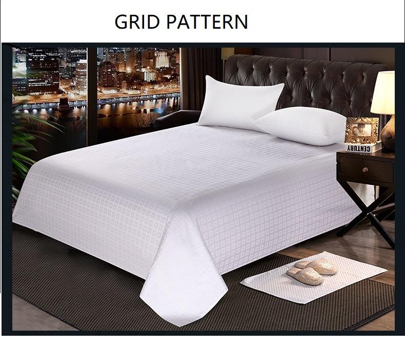 Hot White Jacquard Grid Pattern