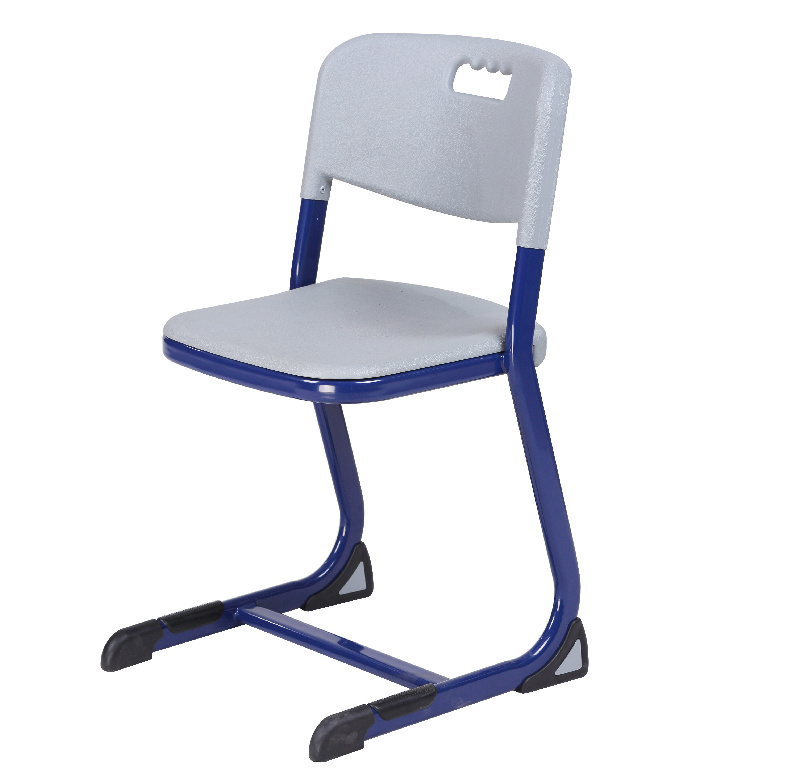 China Original Design School Chairs With Plastic Seat And Steel Frame