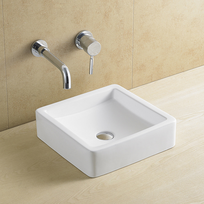 China Commercial Bathroom Countertop Square Sink China Bathroom Basin Sink