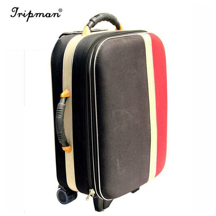 4dcaca783eba 2018 Tripman EVA Hotel Trolley Globe Compass Sky Travel Carry on Vintage  Polo World Luggage