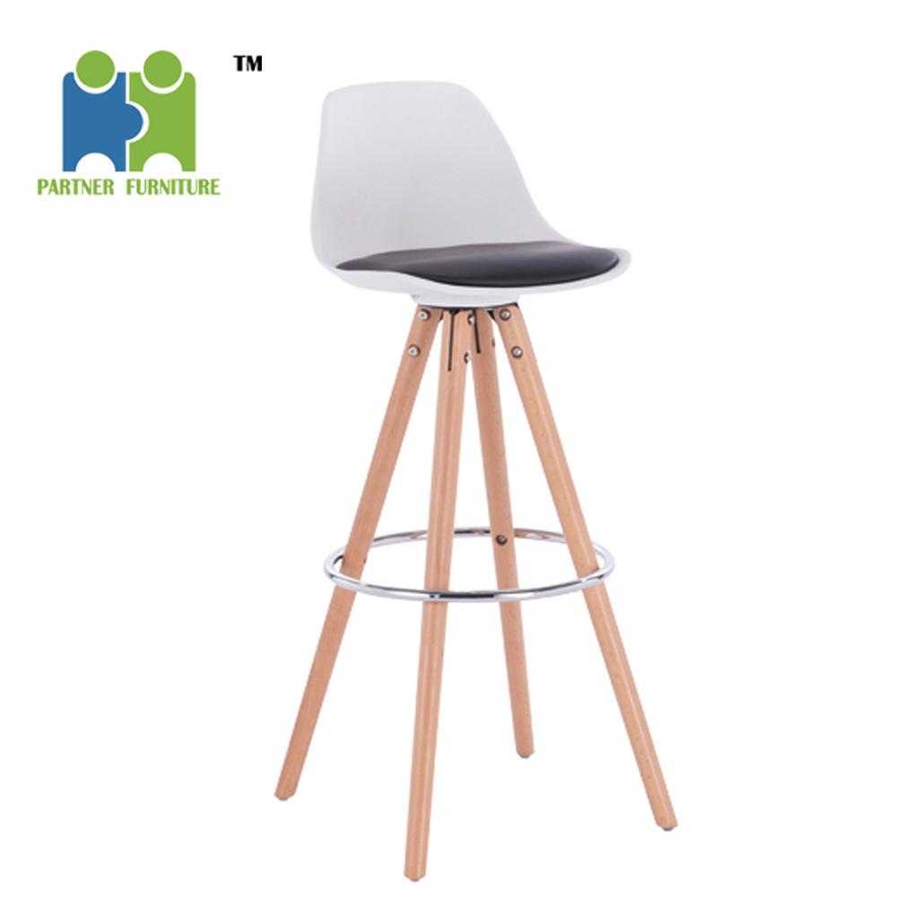 Super Hot Item Scomb Natural Legs Wood Molded Plastic Bar Stool Modern Barstool Counter Stools Machost Co Dining Chair Design Ideas Machostcouk