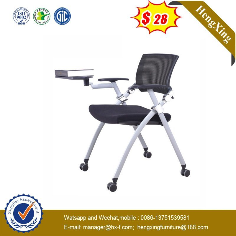 Astounding Hot Item Durable School Office Mesh Conference Folding Chair With Writing Tablet Machost Co Dining Chair Design Ideas Machostcouk