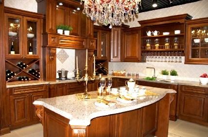 China Red Oak Kitchen Cabinet - China Kitchen Cabinet, Red ...