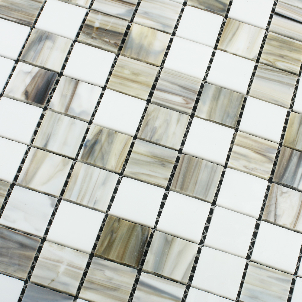 China Diy Hand Cut Floor Tile Building Materials Stained Glass