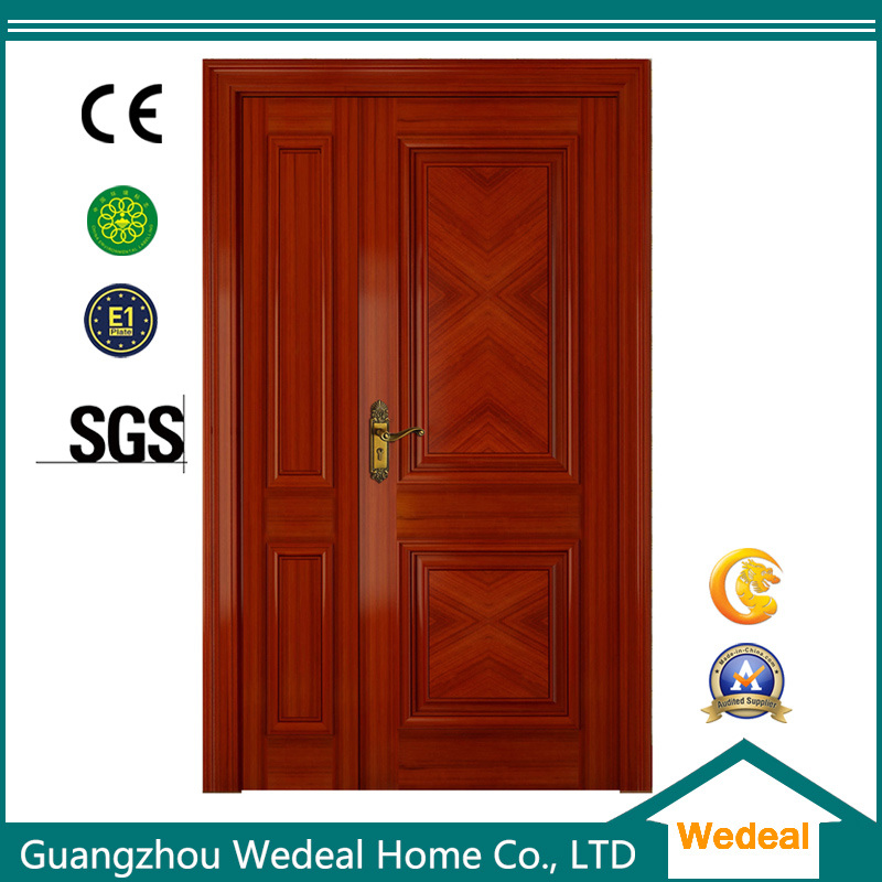 China Wooden Red Oak Veneer Interior Doors For Hotel Projects